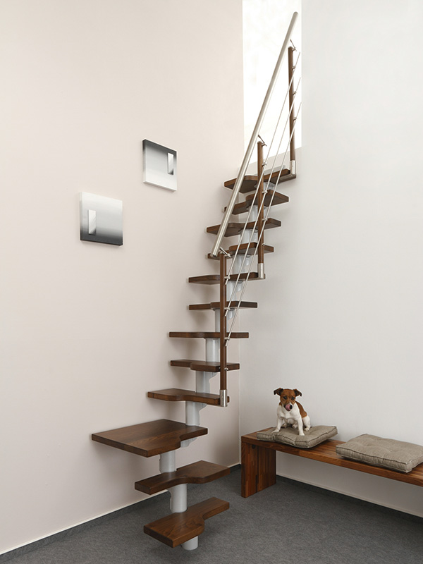 Bolzentreppe Stufen in Eiche